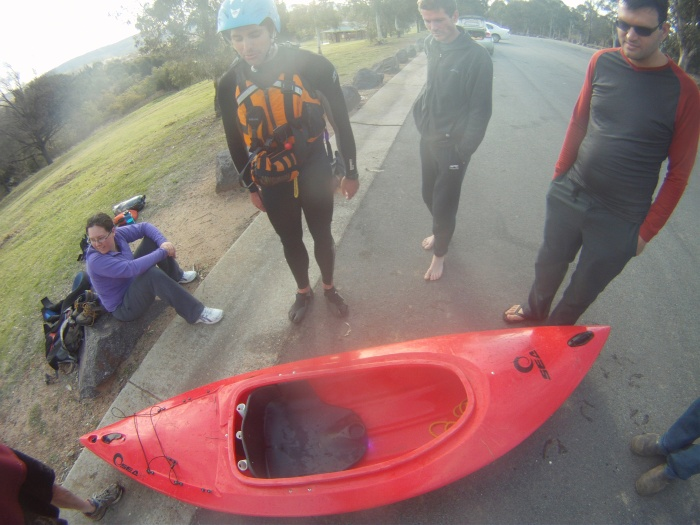 Murrumbidgee Seak Kayak rescued
