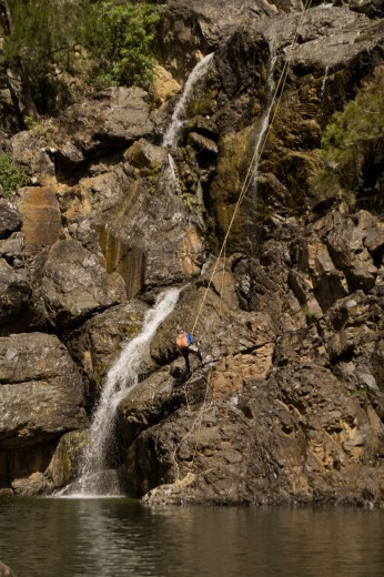 Penultimate waterfall, Bungonia